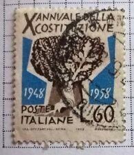 Italy stamps - Annuale Della Costituzione 1948-1958 - FREE P & P