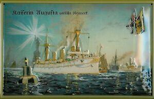 Kaiserin Augusta New York Blechschild Schild 3D geprägt Tin Sign 20 x 30 x 30 cm