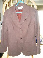 Ladies Vintage FASHION Professional Jacket PENDLETON USA BROWN Virgin Wool NICE