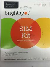 Brightspot Nano Sim Card For Use With Iphone 5 By T-Mobile + Activation Kit
