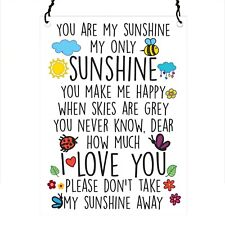 You are my sunshine Retro Vintage Wall Metal Sign Plaque 7.5x10cm