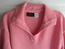 Woman's Pull Over Sweater by Pasta M Medium Pink / Coral