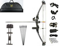Junxing 30-40lb Compound Bow Hunting Target Black Premium Package arrows Bow Bag