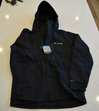 NEW! Columbia Omni-Tech PuddleTown Waterproof Jacket Windbreaker Black Small $90