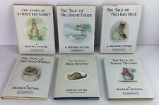 Beatrix Potter books X6 (small) hardback books with dust covers good condition