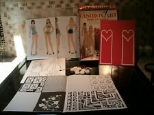 Vintage Circa 1970'S Fashion Art Paper Dolls And Clothes In Box