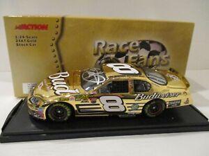 DALE EARNHARDT JR  .. signed 2004  .. BUD .. 24K GOLD  .. 1/24 CAR