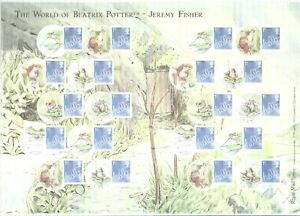 GB 2009 SMILER SHEET LS60 BEATRIX POTTER JEREMY FISHER MINT