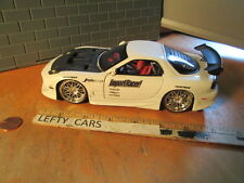 JADA WHITE MAZDA RX-7 IMPORT RACER! die-cast 1:24 scale -RARE!- LOOSE!