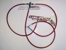 "STREAMLINE +1"" FRONT BRAKE LINES LINE KIT ATV RED HONDA TRX450R TRX 450R 2004+"