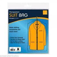DRESS BAG ZIP UP HANGING SUIT COAT GARMENT CLOTHES COVER PROTECTOR TRANSPARENT