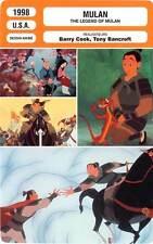FICHE CINEMA : MULAN - Ferrer,Murphy,Morita 1998 The Legend Of Mulan