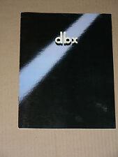 DBX vintage catalog (scan/copy): DX3, 224X, 3BX III, 4BX, 10/20, SFX/C-1, more..