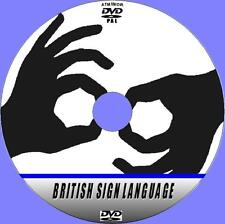 BRITISH SIGN LANGUAGE GUIDE TUTORIAL EASY 2 FOLLOW HAND SIGNING LESSONS DVD NEW