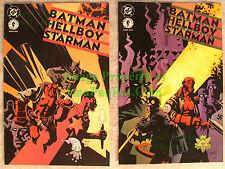 Batman Hellboy Starman 1 & 2 Full Set Mike Mignola VHTF Very Nice Set BIG PICS!