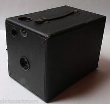 "Seneca 3.5"" Wood Box Camera Working Shutter Lens 110mm W x 122mm T VINTAGE F01"