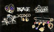 Figural SAFETY Pin Costume HEART Brooch CHARM Pin