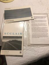 Plymouth 1991 Plymouth Acclaim Owners manual Book Plus