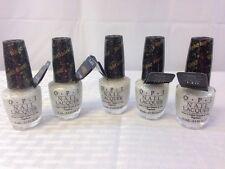 Lot Of 5 Opi Solitaire Nail Polish  Free Shipping