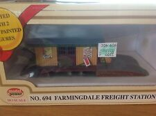 Ho - Farmingdale Freight Station *Built-Up* by Model Power Item #Mdp-694