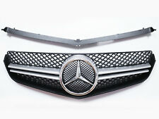 Front Grill For Benz W207 C207 COUPE CONV. E250 E350 E550 - Silver Black Grille