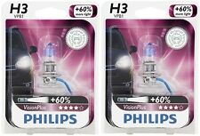 2x GERMANY Philips H3 Upgrade Vision Plus Ultra Bright 12336 Light Bulb 55W Lamp