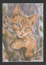 a01943 original ACEO cat mouse kitten ⭐AlbertStoneGallery⭐ by Koval