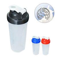 600ml Shaker Mixer Whisk Drink Protein Portable Sport Bottle Blender Gym Cup