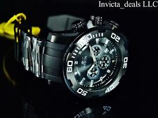 NEW Invicta Men's 50mm Pro Diver Scuba Triple Combat Black Stainless Steel Watch