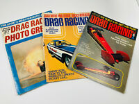 Lot (3) VTG Drag Racing Car Magazines Oct Aug 71 72 Photo Greats