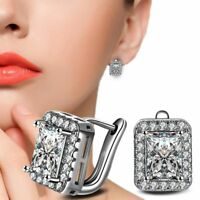 Cubic Zirconia Ear Hoop Huggie Earrings Fashion Jewelry Gift for Women