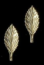 14K 18mm Solid Yellow Gold Leaf Pedal Plant Stud Earrings Lot VL