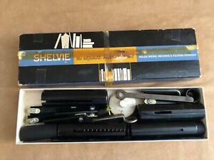 Shelvie the adjustable modern book end mid century black shelving accessory