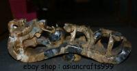 """13 """"Chinesische Antike Jade Jadeit geschnitzte Drachenbestie Ru Yi Skulptur"""