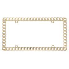 Pilot Automotive Gold Chain License Plate Frame