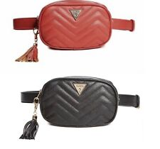 Guess CHEVRON QUILTED FAUX-LEATHER BELT BAG/FANNY PACK