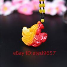 Jewelry Amulet Red Goldfish Necklace Gifts Yellow Jade Natural Fashion Pendant