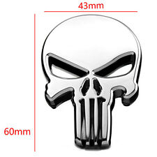 THE Punisher Black Skull Badge Skeleton Car Sticker Decal For BMW Body Emblem