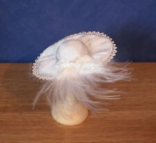 Miniature dolls house luxury Feather White Hat Haberdashery Shop Wedding LGW
