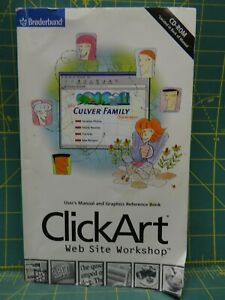 ClickArt Web Site Workshop 1998 Manual and Graphics Reference Book With CD