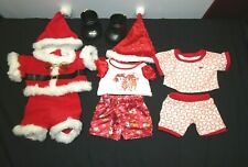 New ListingBuild A Bear Holiday Christmas Santa Rudolph Outfits Lot of 10 Pieces