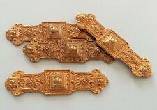 Lot 4 Anciennes Plaques Supports de Broche Créations Bijoux Décoration en Métal