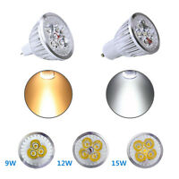 LED Dimmable Spotlight MR16 Lamp GU10 Bulb AC 110V DC 12V 9W 15W Replace Halogen