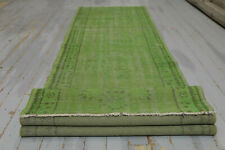 2.5x10.3, HALLWAY RUNNER, TURKISH Runner, Vintage Runner, Wool, Handmade, Green