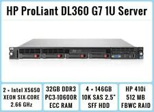 HP ProLiant DL360 G5 2x 3.0GHz Quad-Core Xeon 64bit Server //8GB RAM// 4x SFF Bays