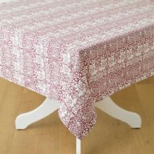 William Morris Brother Rabbit Red 132 X 229 Cm Floral Cotton Tablecloth.