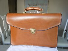HOMA Vintage Brown Leather Briefcase Bag - Swiss Made