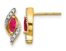 1/3 Carat (ctw) Ruby Post Earrings 14K Yellow Gold
