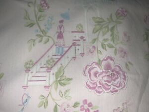 Pottery Barn Kids Cherry Blossom Oriental Toile  style Pink Duvet Cover ~ TWIN~2
