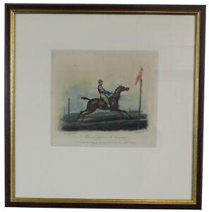 Antique Cheval Gagnant La Course Engraving After Carle Vernet Horse Race Jazel